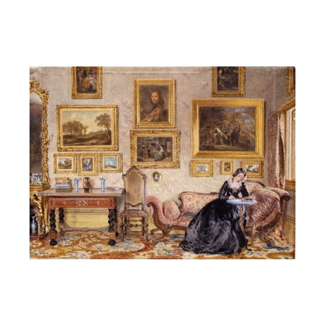 WILLIAM HENRY HUNT Drawing Room print ON CANVAS choose SIZE, from 55cm up, NEW