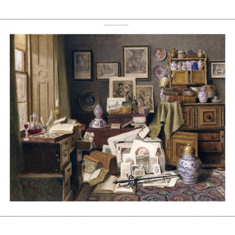 BENJAMIN WALTER SPIERS Corner Of Study CANVAS ART Print various SIZES, BRAND NEW