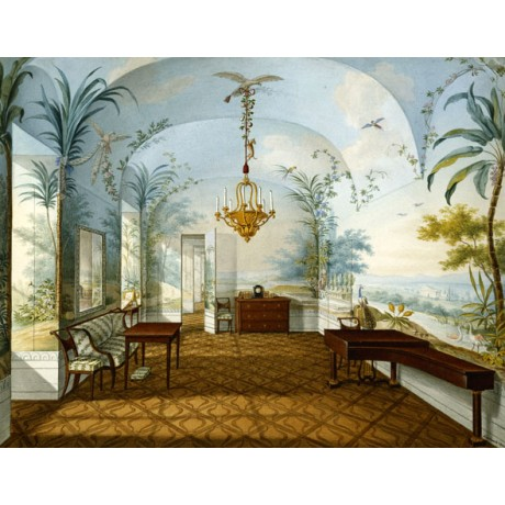 FRANZ XAVER NACHTMANN Painted Salon, Marian's Drawing Room palace CANVAS PRINT