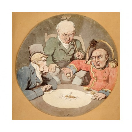 "THOMAS ROWLANDSO ""A Game Of Dice"" Art Print NEW choose your SIZE, from 55cm up"
