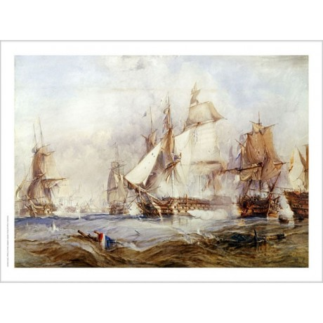 "GEORGE CHAMBERS ""Battle Of Traflagar"" CANVAS ART choose SIZE, from 55cm up, NEW"