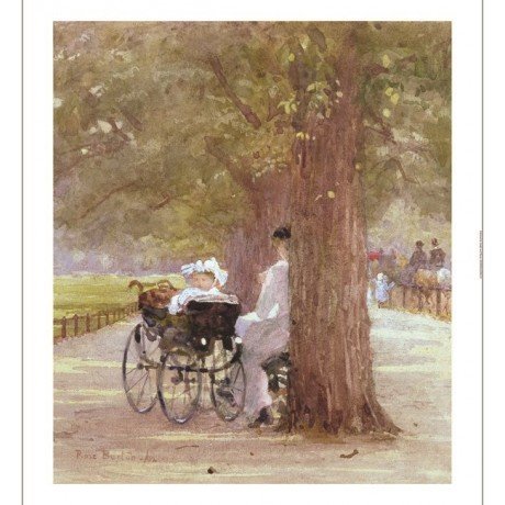 "ROSE MAYNARD BON ""A Rest In Row"" Hyde Park print choose SIZE, from 55cm up, NEW"