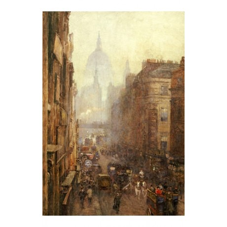 "ROSE MAYNARD BON ""Fleet Street"" london print ON CANVAS various SIZES, BRAND NEW"