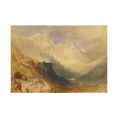 JOSEPH MALLORD TURNER Alpine Valley Val d'Aosta CANVAS! various SIZES, BRAND NEW