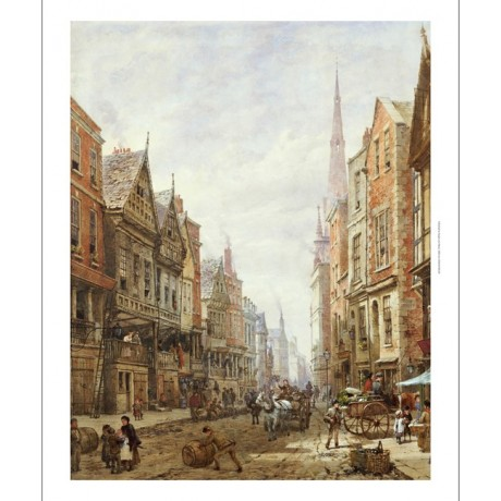 "LOUISE RAYNER ""Watergate Street, Chester"" CANVAS ART various SIZES available"