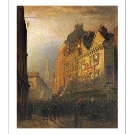 HENRY GEORGE HINE Fire In Drury Lane PRINT ON CANVAS various SIZES available