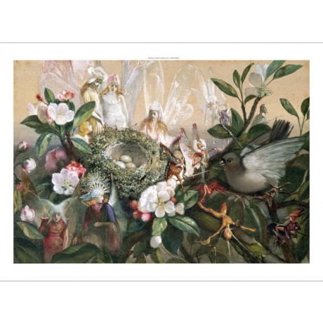 JOHN ANSTER FITZGERALD Fairies Round Bird's Nest PRINT various SIZES, BRAND NEW