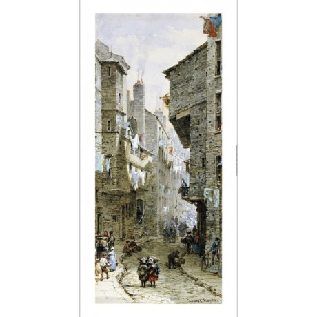 "LOUISE RAYNER ""Street Scenes In Edinburgh II"" ON CANVAS various SIZES, BRAND NEW"