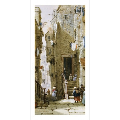 "LOUISE RAYNER ""Street Scenes In Edinburgh I"" ON CANVAS various SIZES, BRAND NEW"