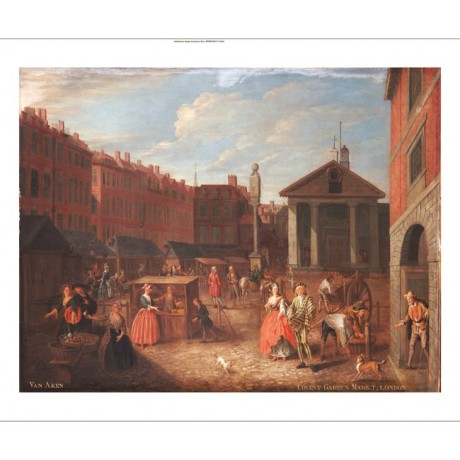 JOSEPH VAN AKE Covent Garden Market print ON CANVAS various SIZES available, NEW