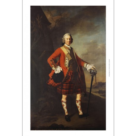 "ALLAN RAMSAY ""Portrait of John Campbell"" LOUDON HIGHLANDERS sabre bonnet NEW!!"