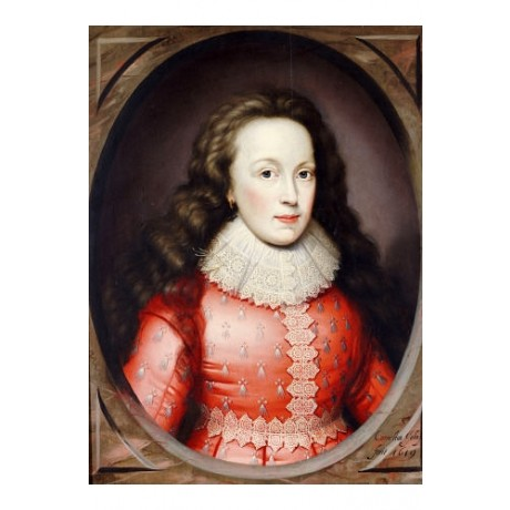 CORNELIUS JOHNSON Countess Of Arundel print ON CANVAS various SIZES, BRAND NEW