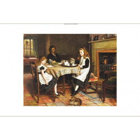 "GEORGE GOODWIN KILBURNE ""There Is No Fireside"" print various SIZES available"