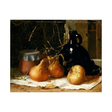 HARRY BROOKER Onions Still Art Print NEW choose your SIZE, from 55cm to X LARGE