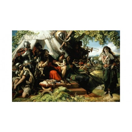 "DANIEL MACLISE ""King Cophetua And Beggar Maid"" PRINT various SIZES available"