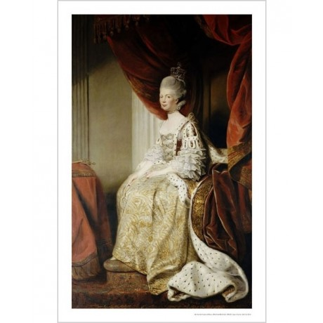 SIR JOSHUA REYNOLDS (STUDIO) Queen Charlotte PRINT choose SIZE, from 55cm up