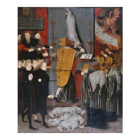 "ENGLISH SCHOOL ""An Anti-Catholic Allegory"" ON CANVAS! various SIZES, BRAND NEW"