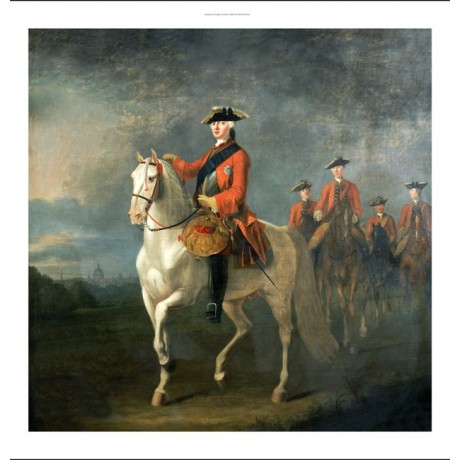 DAVID MORIER King George III Military ON CANVAS choose SIZE, from 55cm up, NEW