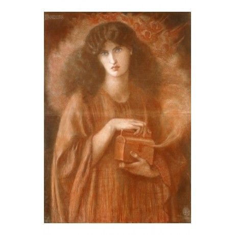"DANTE GABRIEL ROSSETTI ""Pandora"" Art CANVAS EDITION various SIZES available, NEW"