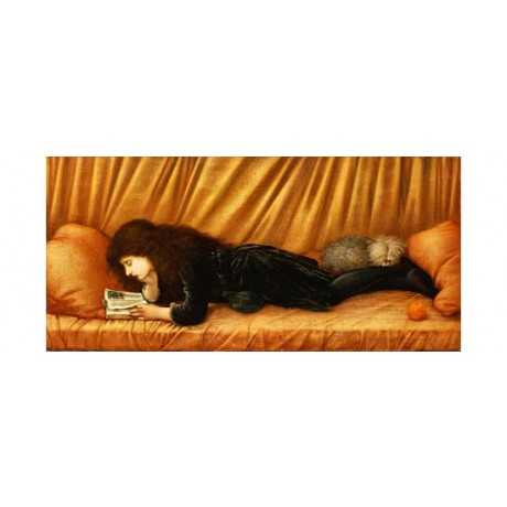 "SIR EDWARD COLEY BURNE-JONES ""Katie Lewis"" ON CANVAS various SIZES available"
