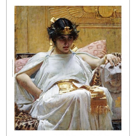 "JOHN WILLIAM WATERHOUSE ""Cleopatra"" Egypt ON CANVAS various SIZES available, NEW"
