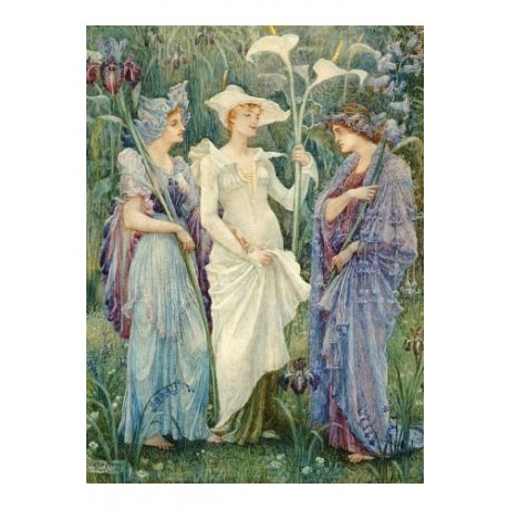 "WALTER CRANE ""Ensigns Of Spring"" Art CANVAS EDITION various SIZES available, NEW"