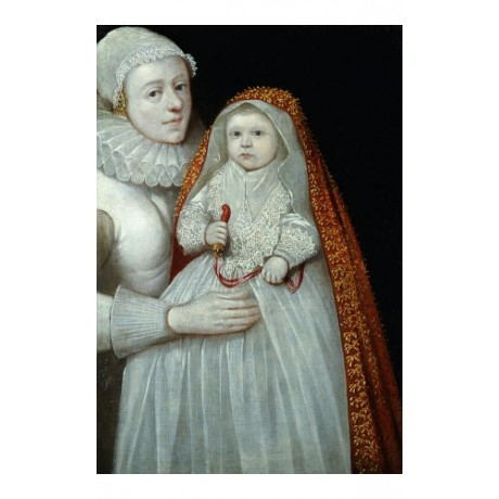 ENGLISH SCHOOL Christening Mother And Child PRINT new various SIZES available