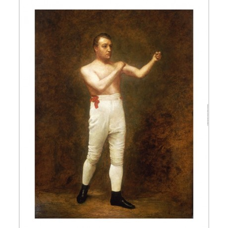 ENGLISH SCHOOL Portrait Of A Boxer Sport ON CANVAS choose SIZE, from 55cm up