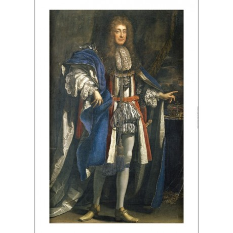 "BENEDETTO GENNARI ""Portrait Of King James II"" ON CANVAS various SIZES, BRAND NEW"