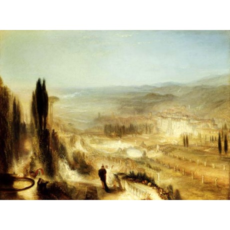 JMW TURNER Cicero at his Villa BYSTANDER foliage trees view NEW CANVAS PRINT!!