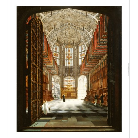 JOHN HARWOOD Henry VII's Chapel Westminster Abbey PRINT various SIZES, BRAND NEW