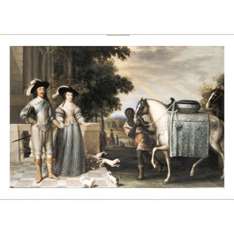 DANIEL MYTENS King Departing For The Chase Horse PRINT various SIZES, BRAND NEW