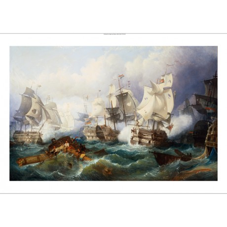 PHILIP JAMES DE LOUTHERBOURG Battle of Trafalgar CANVAS various SIZES, BRAND NEW