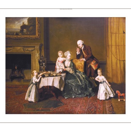 JOHANN ZOFFANY Lord Willoughby & Family PRINT new choose SIZE, from 55cm up, NEW