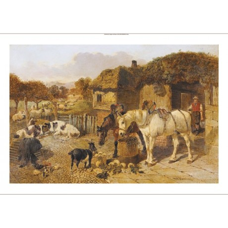 JOHN FREDERICK HERRING JUNIOR Farmyard print NEW choose SIZE, from 55cm up, NEW