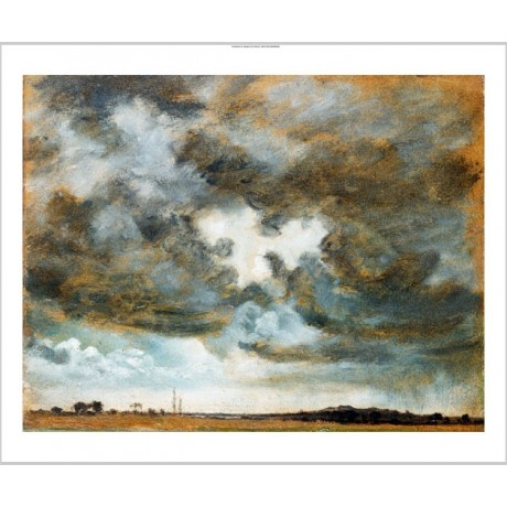 "JOHN CONSTABLE ""A Cloudy Study"" storm new CANVAS print! various SIZES, BRAND NEW"