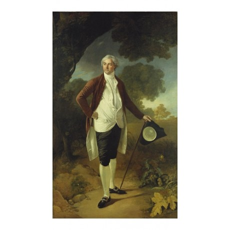 "NATHANIEL DANCE ""Portrait Of David Garrick"" new CANVAS! various SIZES, BRAND NEW"