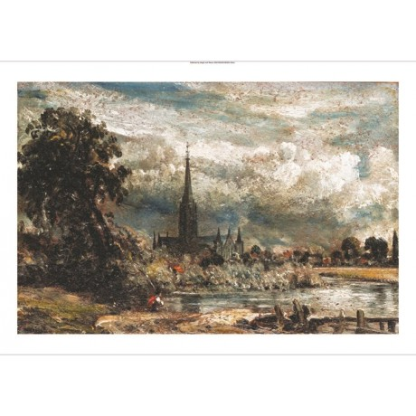 JOHN CONSTABLE Salisbury Cathedral CANVAS EDITION choose SIZE, from 55cm up, NEW