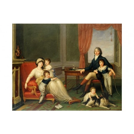 "AUGUSTO NICODEMO ""Lambton Family"" CANVAS EDITION choose SIZE, from 55cm up, NEW"