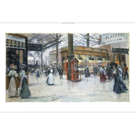 "EUGENIO ALVAREZ DUMONT ""Victoria Station"" new CANVAS! various SIZES, BRAND NEW"
