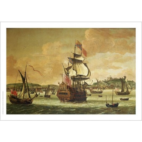 JACOB KNYFF KNIJFF Man-O-War Off Dover Ship PRINT new various SIZES, BRAND NEW