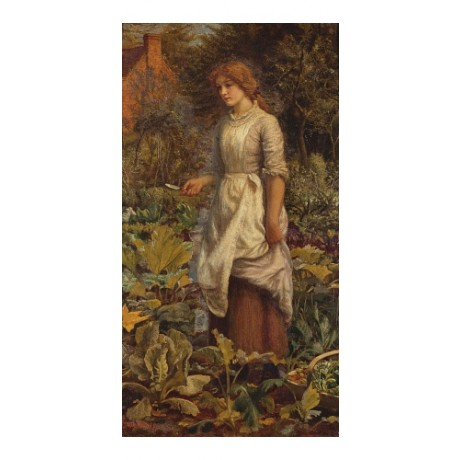 "ARTHUR HUGHES ""The Fair Gardener"" new CANVAS print! various SIZES available, NEW"