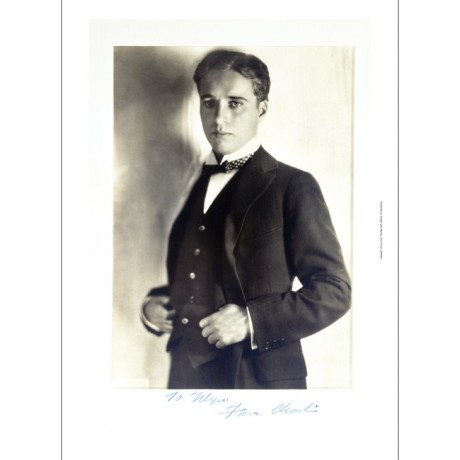 """DECORATIVE CANVAS PRINT """"Charlie Chaplin"""" NEW choose your SIZE, 55cm to X LARGE"""