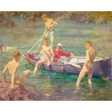 HENRY SCOTT TUKE Ruby, Gold And Malachite NAKED men SUPERIOR edition NEW