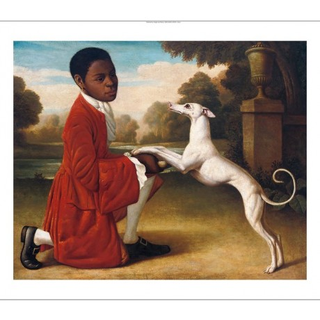 "MANNER OF GEORGE STUBBS"" Page Boy with Whippet"" CANVAS various SIZES, BRAND NEW"
