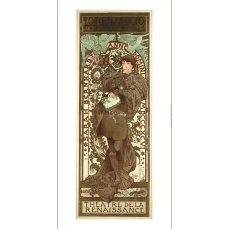 "ALPHONSE MARIE MUCHA ""Lorenzaccio"" renaissance CANVAS! various SIZES, BRAND NEW"