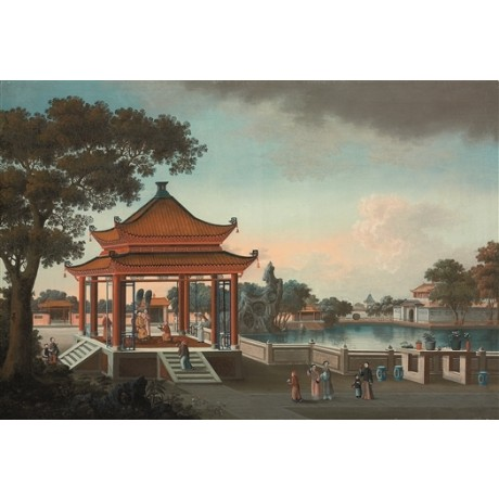 "CHINESE SCHOOL ""Gardens of an Imperial Palace"" china NEW CANVAS PRINT BRAND NEW"