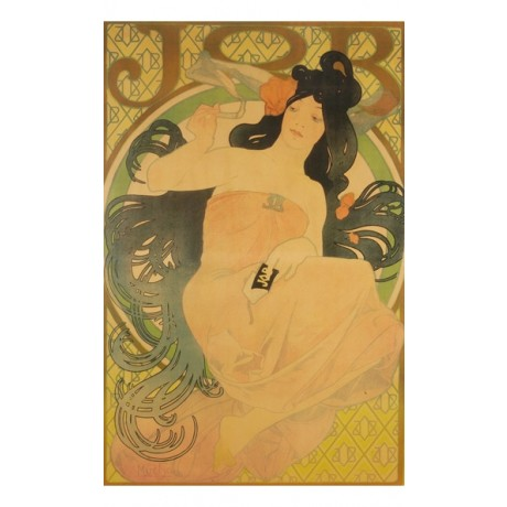 "ALPHONSE MARIE MUCHA ""Job"" woman hair NEW CANVAS! choose SIZE, from 55cm up, NEW"