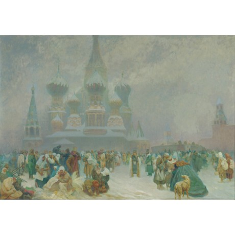 "ALPHONSE MARIE MUCHA ""Abolition of Serfdom in Russia"" various SIZES, BRAND NEW"