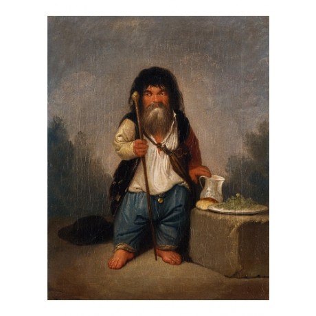"SMUGLEWICZ ""Portrait Of DWARF Baiocco"" jug loaf beard staff plate CANVAS PRINT"